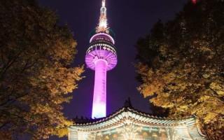 Описание сеульской телебашни в республике Южная Корея