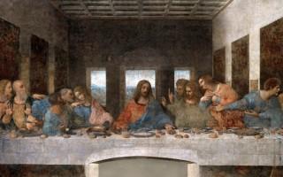 Знаменитая фреска Леонардо да Винчи «Тайная вечеря»