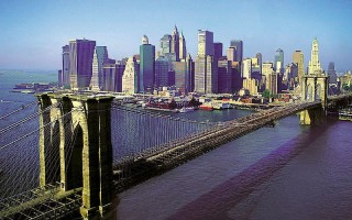 Бруклинский мост в Нью-Йорке