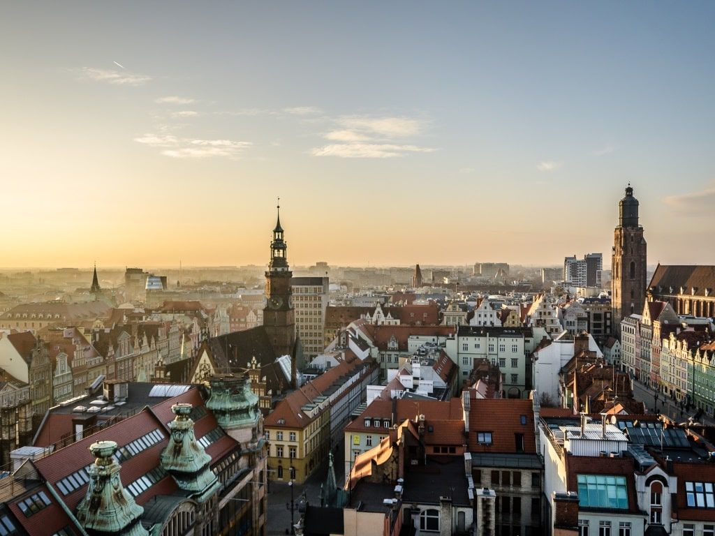 Старый город Варшавы - вид сверху