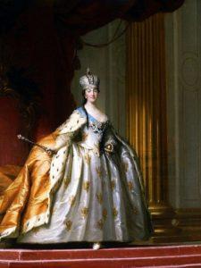 Екатерина II в большой императорской короне