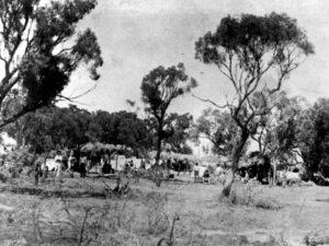 Лагерь забастовщиков