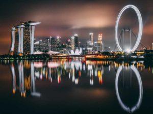 На закате Сингапур особенно красив