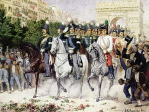 Парад русских войск в Париже в 1814 году