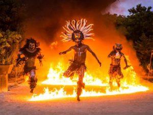 Ритуальный индейский танец