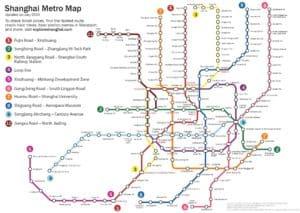 Схема метро Шанхая
