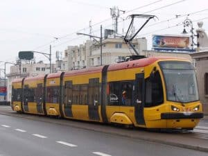 Трамваи в Варшаве