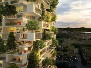 Органичное соединение высотного здания с изысканным ландшафтным дизайном