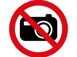 Фото и видеосъемка внутри священных павильонов запрещены