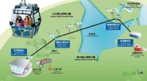 Соединяет остров Лантау с районом Ngong Ping