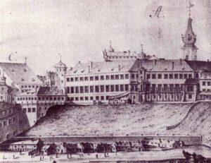 Старинная гравюра 17 века