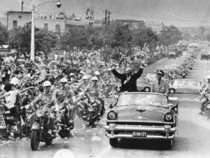 Чан Кайши и Эйзенхауэр в ходе визита последнего в Тайбэй (1960 г.)