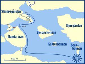 Карта первого плавания