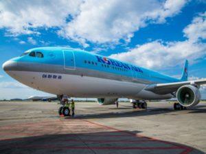 Самолет корейской авиакомпании